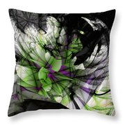 Fractured Bloom  Throw Pillow