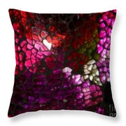 Fractured Color Throw Pillow