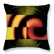 Fractured Fractal Throw Pillow