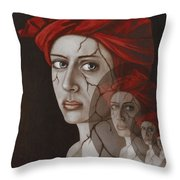 Fractured Identity Edit 8 Throw Pillow