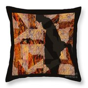 Fractured Overlay I Throw Pillow