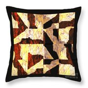 Fractured Overlay Il Throw Pillow