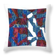 Fractured Overlay Iv Throw Pillow