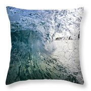 Fractured Tube. Throw Pillow by Sean Davey