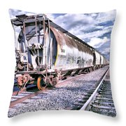 Graffiti Train Throw Pillow