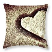 Imprint On My Heart Throw Pillow