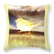 Like A Bird Or A Fragile Pedestrian Throw Pillow