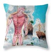 Fragiles Colossus Throw Pillow