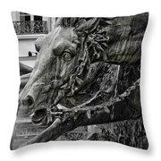 Fragment Of Bartholdi Fountain Throw Pillow