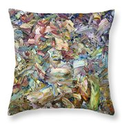 Roadside Fragmentation Throw Pillow