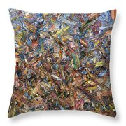 Fragmented Fall Throw Pillow