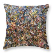 Fragmented Fall - Square Throw Pillow