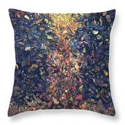 Fragmented Flame Throw Pillow