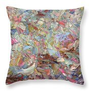Fragmented Hill Throw Pillow