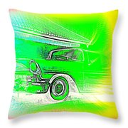In Your Future I Can See Fragments Of An Old Car Called Bel Air  Throw Pillow