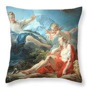 Fragonard's Diana And Endymion Throw Pillow