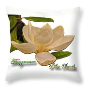 Fragrance Of The South Throw Pillow