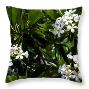 Fragrant Clusters Throw Pillow