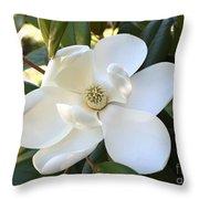 Fragrant Magnolia Throw Pillow