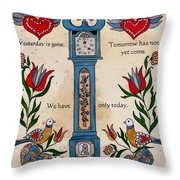 Fraktur Scriften-time Throw Pillow