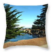 Framed By Cypress Trees Throw Pillow