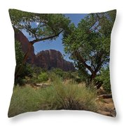 Framed By Foliage  Throw Pillow
