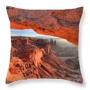 Framed By Mesa Arch Throw Pillow