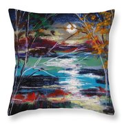 Framed By Moonlight Throw Pillow
