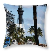 Framed By The Tropics Throw Pillow