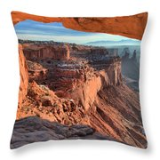 Framed Canyon Throw Pillow