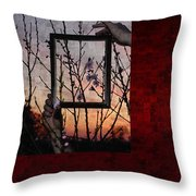 Framed Cherry Blossoms - Featured In Comfortable Art And Nature Groups Throw Pillow