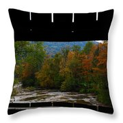 Framed Fall Foliage Throw Pillow