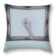 Framed Hand Throw Pillow