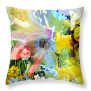 Framed In Flowers Throw Pillow