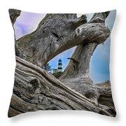 Framed Lighthouse Throw Pillow by Robert Bales