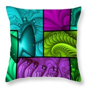 Framed Neon Colors Throw Pillow