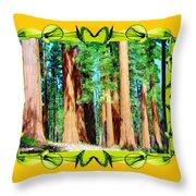 Framed Sequoias Throw Pillow