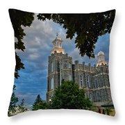 Framed Temple Throw Pillow
