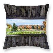 Framed-autumn In Vermont Throw Pillow