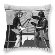 Jamming In Oakland 1976 Throw Pillow