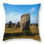 France Brittany Carnac Ancient Megaliths  Throw Pillow