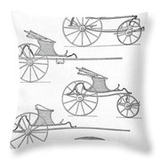 France Carriages, C1740 Throw Pillow