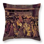 France Catholic League Throw Pillow