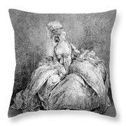 France Court Life, 1778 Throw Pillow