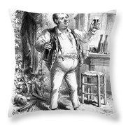 France: Enjoying Wine Throw Pillow