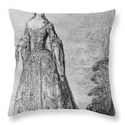France Fashionable Lady Throw Pillow