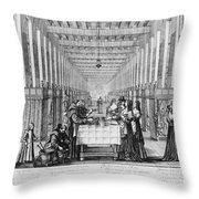 France: Hospital, C1635 Throw Pillow
