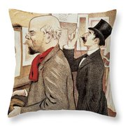 France Paris Poster Of Paul Verlaine And Jean Moreas Throw Pillow