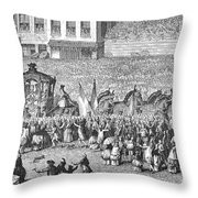 France Royal Procession Throw Pillow