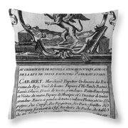 France Trade Card, 1780s Throw Pillow